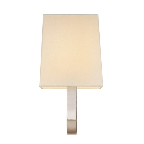 Sonneman Lighting Sconce Wall Light with White Shade in Polished Nickel Finish 1821.35F