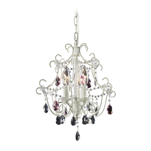 Elk Lighting Modern Mini-Chandelier in Antique White Finish 4041/3