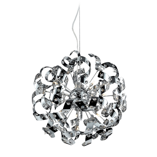 Elk Lighting Modern Pendant Light in Polished Chrome Finish 30006/13