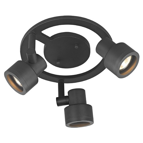 Recesso Lighting by Dolan Designs 3-Light Stepped Cylinder Round Spot Light - Bronze - GU10 Base TR0213-BZ