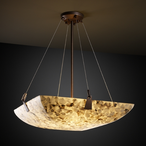 Justice Design Group Justice Design Group Alabaster Rocks! Collection Pendant Light ALR-9647-25-DBRZ
