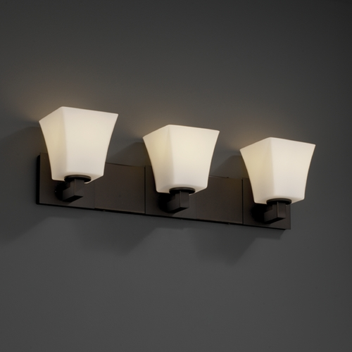 Justice Design Group Justice Design Group Fusion Collection Bathroom Light FSN-8923-40-OPAL-DBRZ