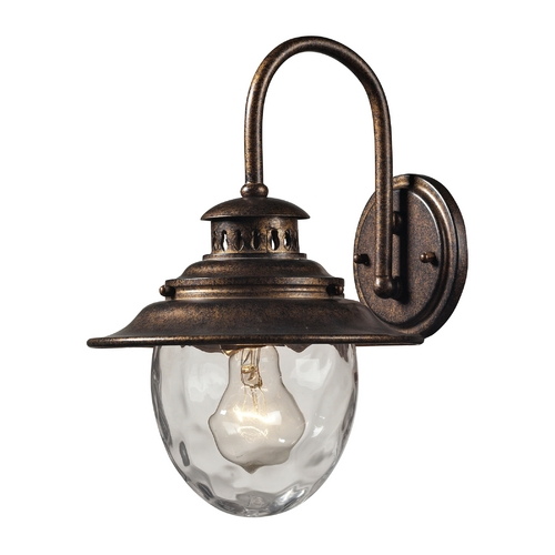 Elk Lighting Outdoor Wall Light with Clear Glass in Regal Bronze Finish 45030/1