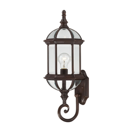 Nuvo Lighting Outdoor Wall Light with Clear Glass in Rustic Bronze Finish 60/4972