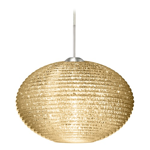 Besa Lighting Besa Lighting Pape Satin Nickel LED Pendant Light with Globe Shade 1JT-4912GD-LED-SN