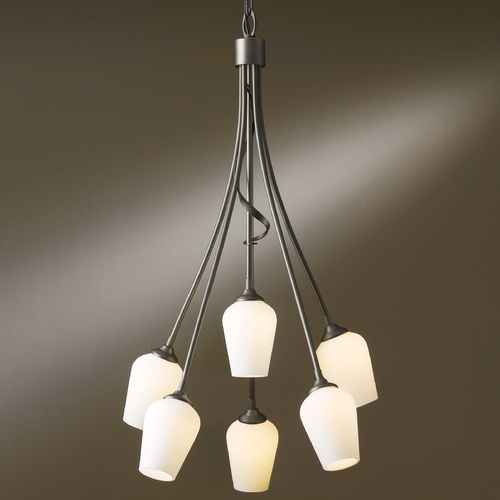 Hubbardton Forge Lighting Hubbardton Forge Lighting Flora Dark Smoke Chandelier 103043-07-G303