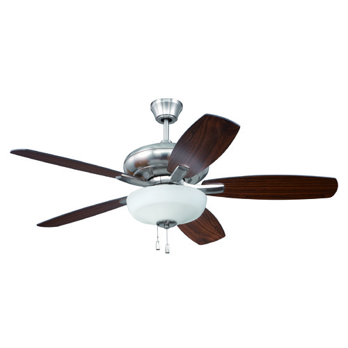 Craftmade Lighting Craftmade Lighting Forza Brushed Polished Nickel Ceiling Fan with Light FZA52BNK5C1