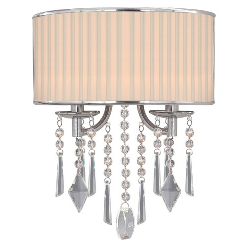 Golden Lighting Golden Lighting Echelon Chrome Sconce 8981-WSC BRI