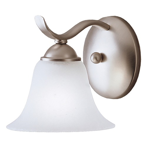 Kichler Lighting Kichler Sconce Wall Light with White Glass in Brushed Nickel Finish 6719NI