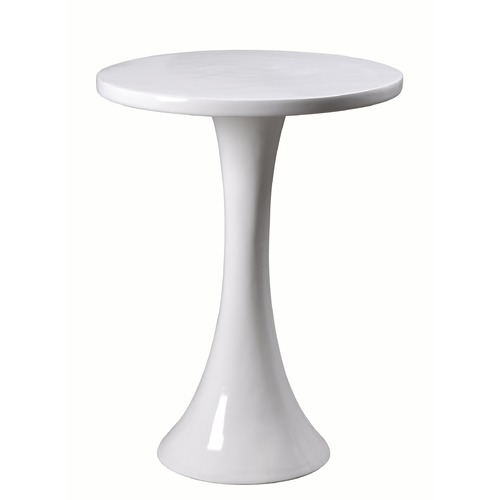 Kenroy Home Lighting Kenroy Home Snowbird Gloss White Accent Table 65012WH