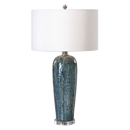 Uttermost Lighting Uttermost Maira Blue Ceramic Table Lamp 27130-1