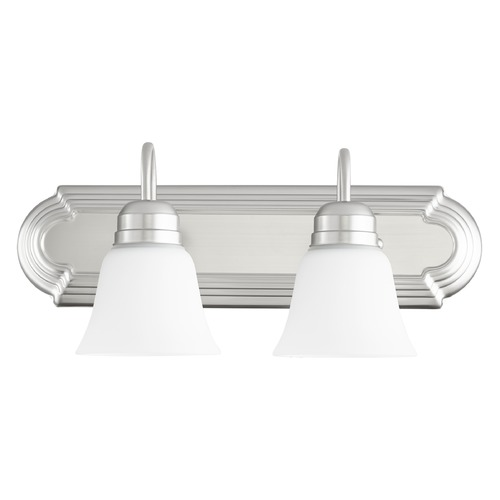 Quorum Lighting Quorum Lighting Satin Nickel Bathroom Light 5094-2-65
