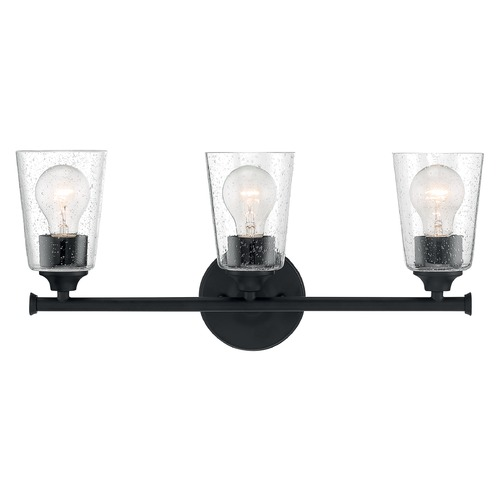 Satco Lighting Satco Lighting Bransel Matte Black Bathroom Light 60/7283