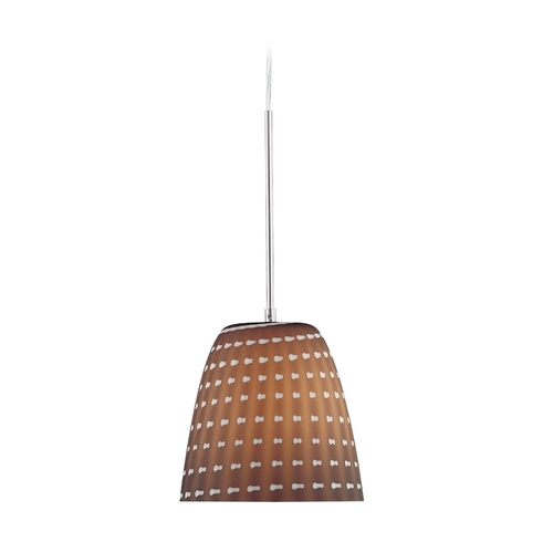 George Kovacs Lighting Modern Mini-Pendant Light with Art Glass P422-084