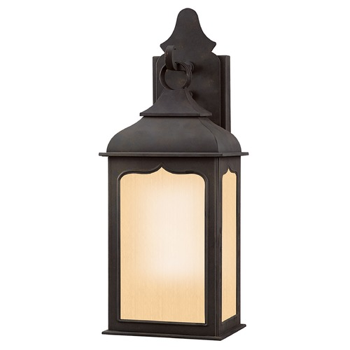Troy Lighting Outdoor Wall Light with Clear Glass in Colonial Iron Finish BF2010CI