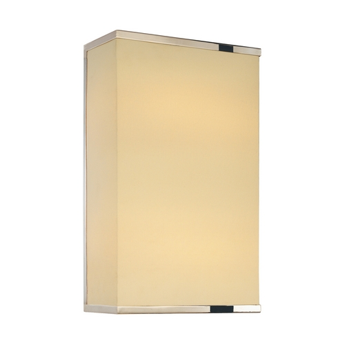 Sonneman Lighting Modern Sconce Wall Light with White Shade in Polished Nickel Finish 1831.35F