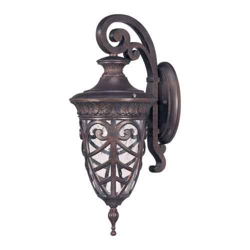 Nuvo Lighting Outdoor Wall Light with Clear Glass in Dark Plum Bronze Finish 60/2056
