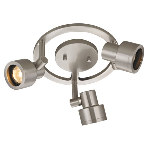 Recesso Lighting by Dolan Designs 3-Light Stepped Cylinder Round Spot Light - Satin Nickel - GU10 Base TR0213-SN