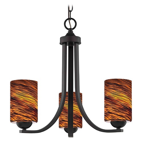 Design Classics Lighting Design Classics Dalton Fuse Neuvelle Bronze Mini-Chandelier 5843-220 GL1023C