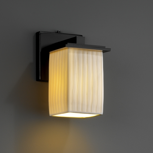 Justice Design Group Justice Design Group Limoges Collection Sconce POR-8671-15-WFAL-MBLK