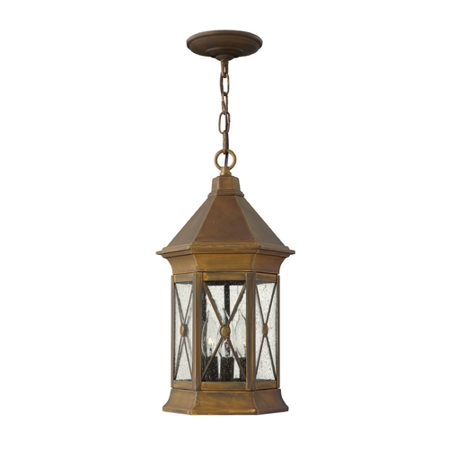 Hinkley Lighting Outdoor Hanging Light with Clear Glass in Sienna Finish 2292SN