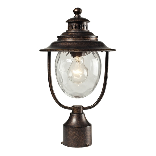 Elk Lighting Post Light with Clear Glass in Regal Bronze Finish 45032/1