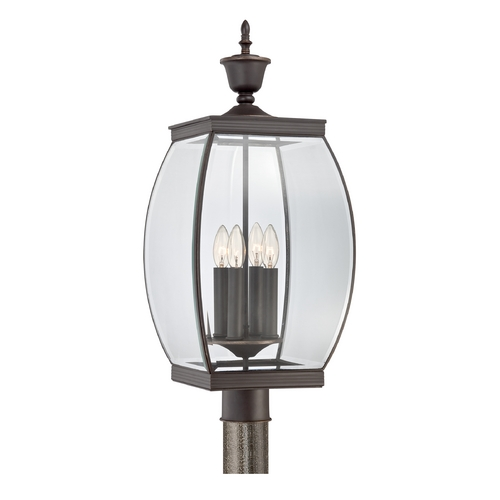 Quoizel Lighting Post Light with Clear Glass in Medici Bronze Finish OAS9011Z