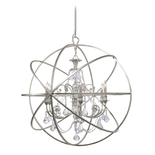 Crystorama Lighting Pendant Light in Olde Silver Finish 9219-OS-CL-MWP