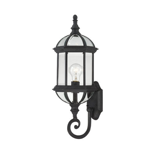 Nuvo Lighting Outdoor Wall Light with Clear Glass in Textured Black Finish 60/4973