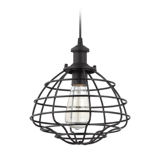 Jeremiah Lighting Jeremiah Lighting Matte Black Mini-Pendant Light P340MBK1