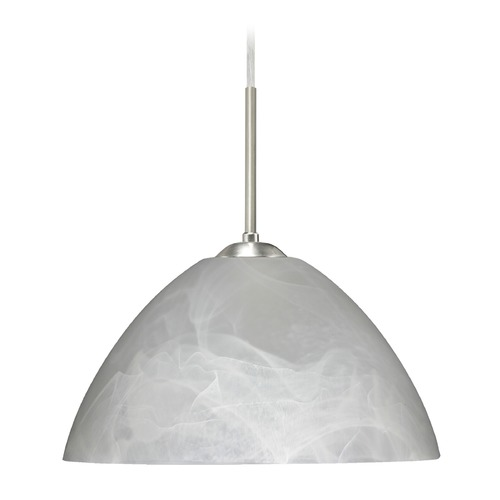 Besa Lighting Besa Lighting Tessa Satin Nickel LED Pendant Light with Bowl / Dome Shade 1JT-420152-LED-SN