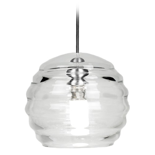 WAC Lighting WAC Lighting Clarity Chrome LED Mini-Pendant Light with Bowl / Dome Shade MP-LED916-CL/CH