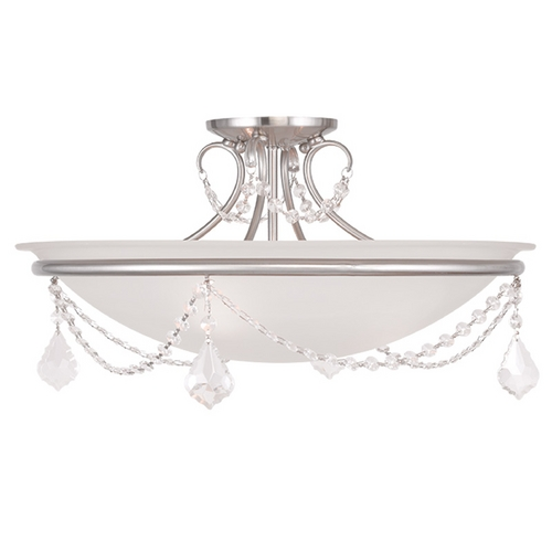Livex Lighting Livex Lighting Chesterfield/pennington Brushed Nickel Semi-Flushmount Light 6525-91