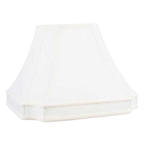 Livex Lighting White Cut Corner Lamp Shade with Spider Assembly S547