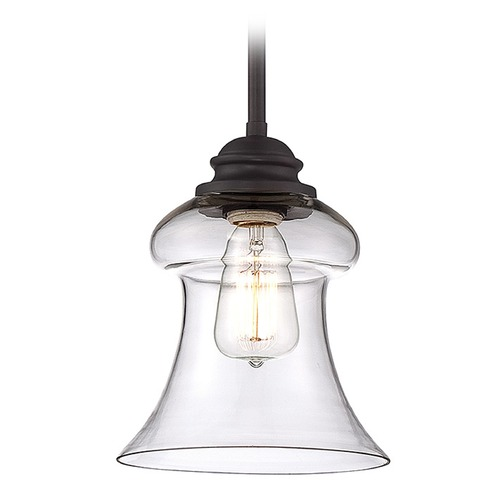 Savoy House Savoy House English Bronze Mini-Pendant Light with Bell Shade 7-4132-1-13