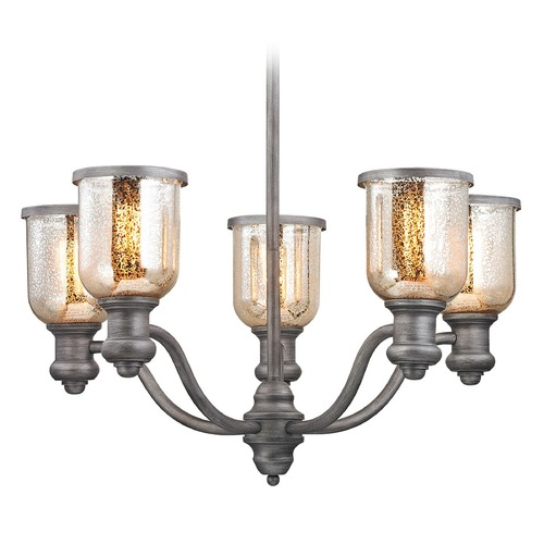 Elk Lighting Elk Lighting Brooksdale Weathered Zinc Chandelier 66193-5