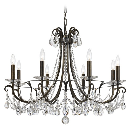 Crystorama Lighting Crystorama Lighting Othello English Bronze Crystal Chandelier 6828-EB-CL-MWP