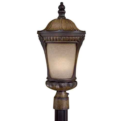 Minka Lavery Post Light with Beige / Cream Glass in Prussian Gold Finish 9146-407-PL