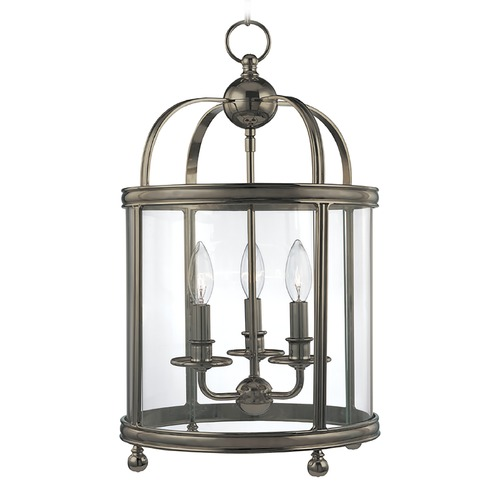 Hudson Valley Lighting Pendant Light with Clear Glass in Historic Nickel Finish 7812-HN