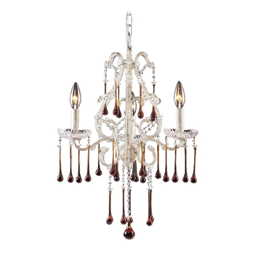 Elk Lighting Mini-Chandelier in Antique White Finish 4001/3AMB