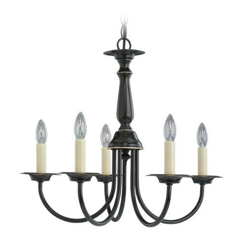 Sea Gull Lighting Mini-Chandelier in Heirloom Bronze Finish 3916-782