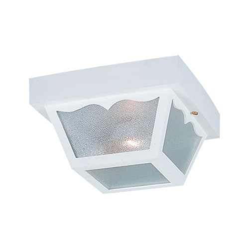 Sea Gull Lighting Close To Ceiling Light with Clear Glass in White Finish 7567-15
