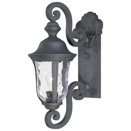 Minka Lavery Outdoor Wall Light with Clear Glass in Black Finish 8990-66