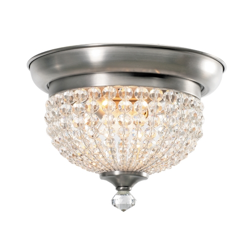 Crystorama Lighting Crystal Flushmount Light in Antique Pewter Finish 6742-AP
