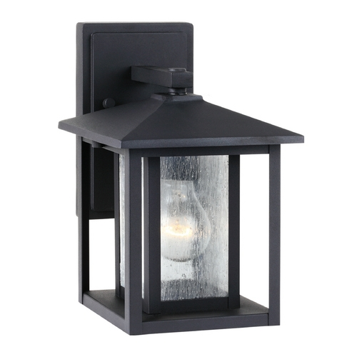 Sea Gull Lighting Outdoor Wall Light with Clear Glass in Black Finish 88025-12