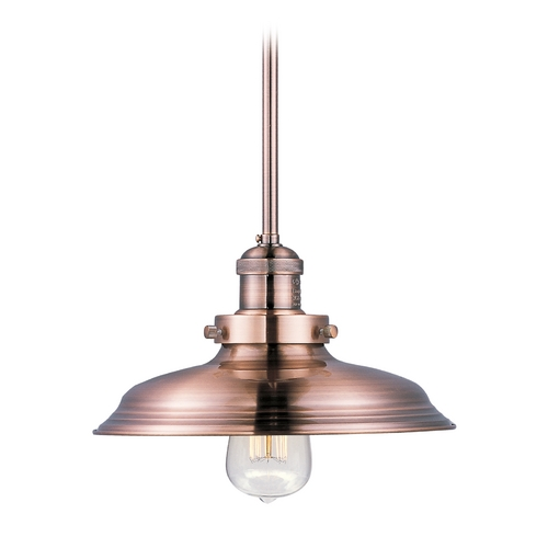 Maxim Lighting Maxim Lighting Mini Hi-Bay Antique Copper Pendant Light with Bowl / Dome Shade 25042ACP