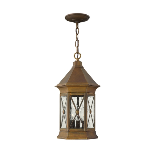 Hinkley Lighting LED Outdoor Hanging Light with Clear Glass in Sienna Finish 2292SN-LED