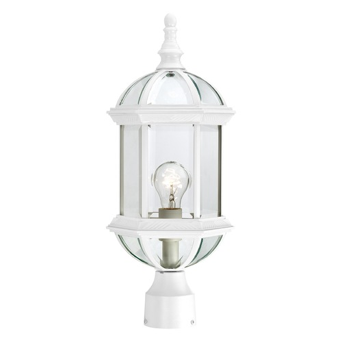 Nuvo Lighting Post Light with Clear Glass in White Finish 60/4974