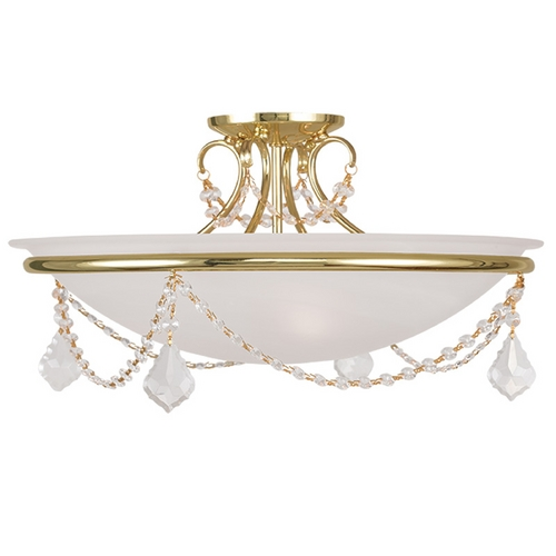 Livex Lighting Livex Lighting Chesterfield/pennington Polished Brass Semi-Flushmount Light 6525-02