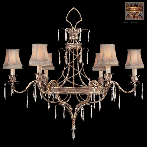 Fine Art Lamps Fine Art Lamps Pastiche Antique Gold Crystal Chandelier 407040-2ST